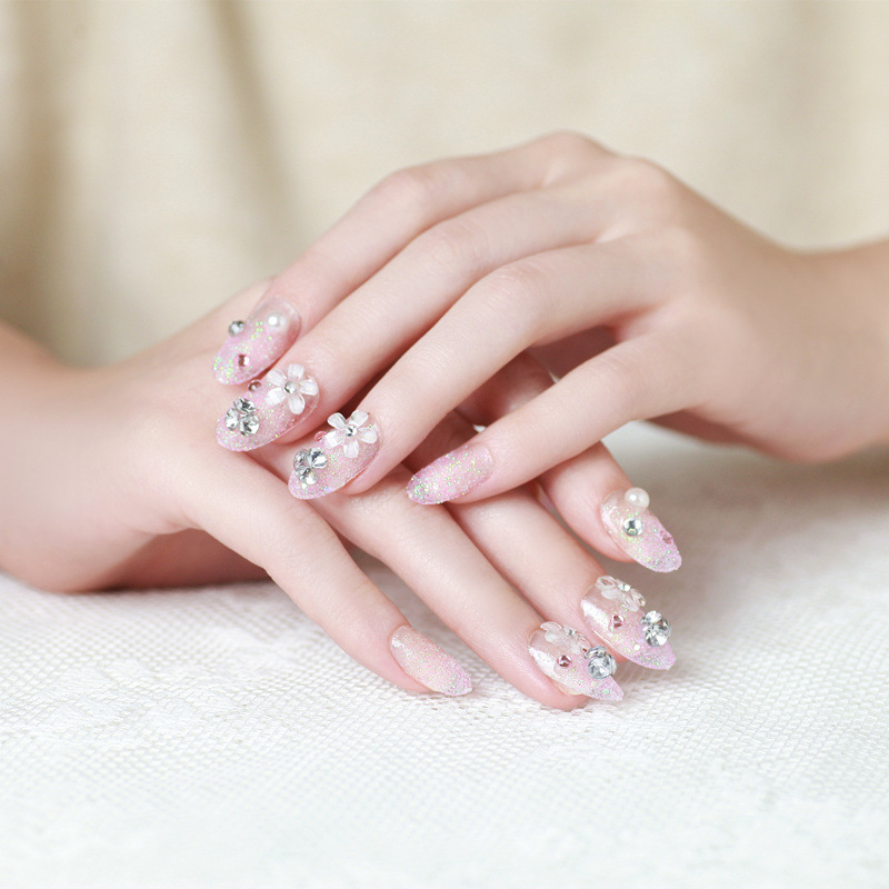 pcs set false nails french bridal