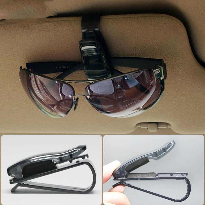 Fit Sun Visor Portable Car font b Sunglasses b font Eye Glasses Ticket Card Pen Holder