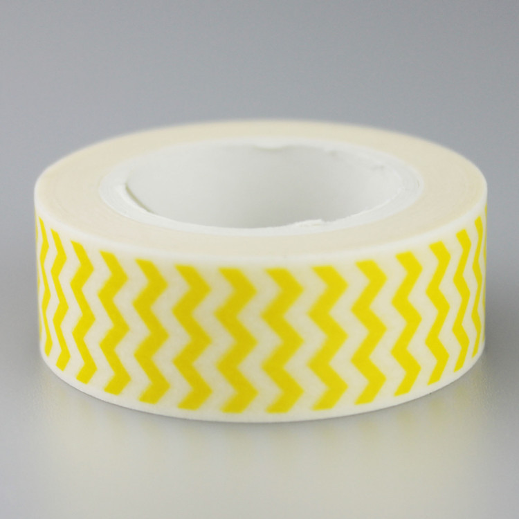 Yellow Wavy Decorative Washi Tape DIY Scrapbooking Masking Tape School Office Supply Escolar Papelaria