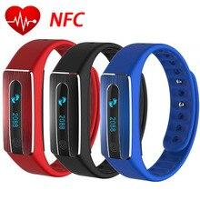 NFC Функция монитор сердечного ритма HB02 Bluetooth SmartBand Водонепроницаемый IP67 Браслет фитнес-трекер браслеты для IOS Android