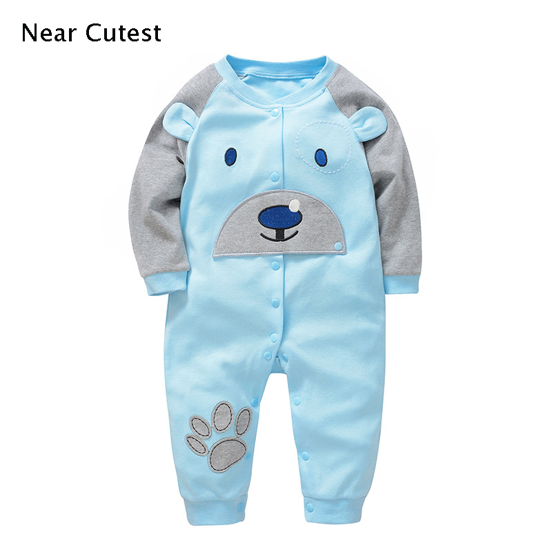 Near Cutest Newborn Baby Rompers Baby Boy Girls Long Sleeve Winter Baby Costume Jumpsuits Roupas Bebes Infant Clothes baby boy winter clothing newborn rompers baby boy snowsuit winter clothes christmas jumpsuits navidad bebes