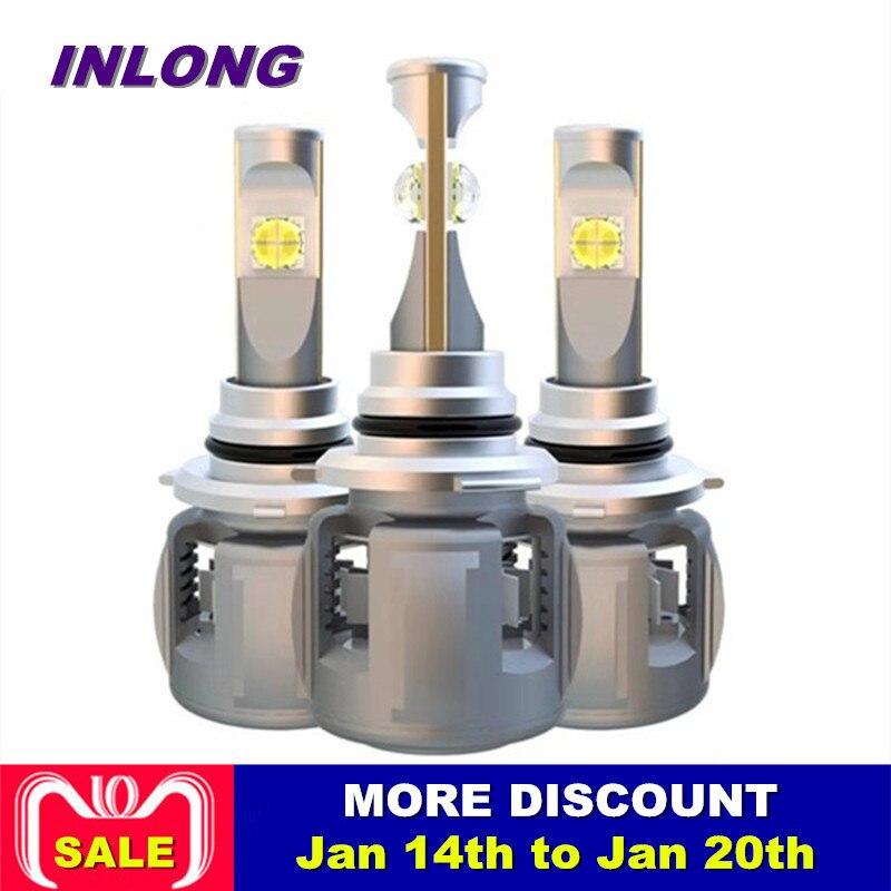 Inlong X70 H4 H7 H1 9005 9006 Voiture LED Phare Ampoule H11 H9 H8 D1S D2S D4S hp LED lampe puce 60 W 7800LM Phare Brouillard Lumières 6000 K