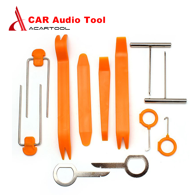 Disciplined New 12pcs Professional Vehicle Car Audio Door Removal Tool Panel Dismantle Installation Pry Tool Kit Clients First