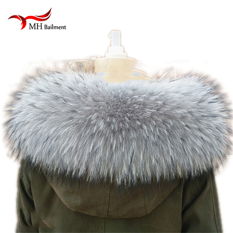 Ngsg 100% Real Natural Fur Raccoon Collar Hooded 7colors Genuine Royal Blue Adult Womens Neck Fluffy Fur Cap Ring Scarf Scarves Big Clearance Sale Apparel Accessories