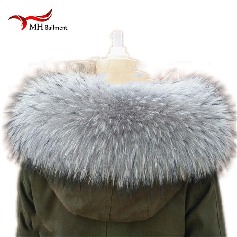 Real Raccoon Fur Collar Γυναικείο 100% φυσικό γούνινο κολάρο Real Fur Shawl Raccoon collar Fur Scraves L # 84