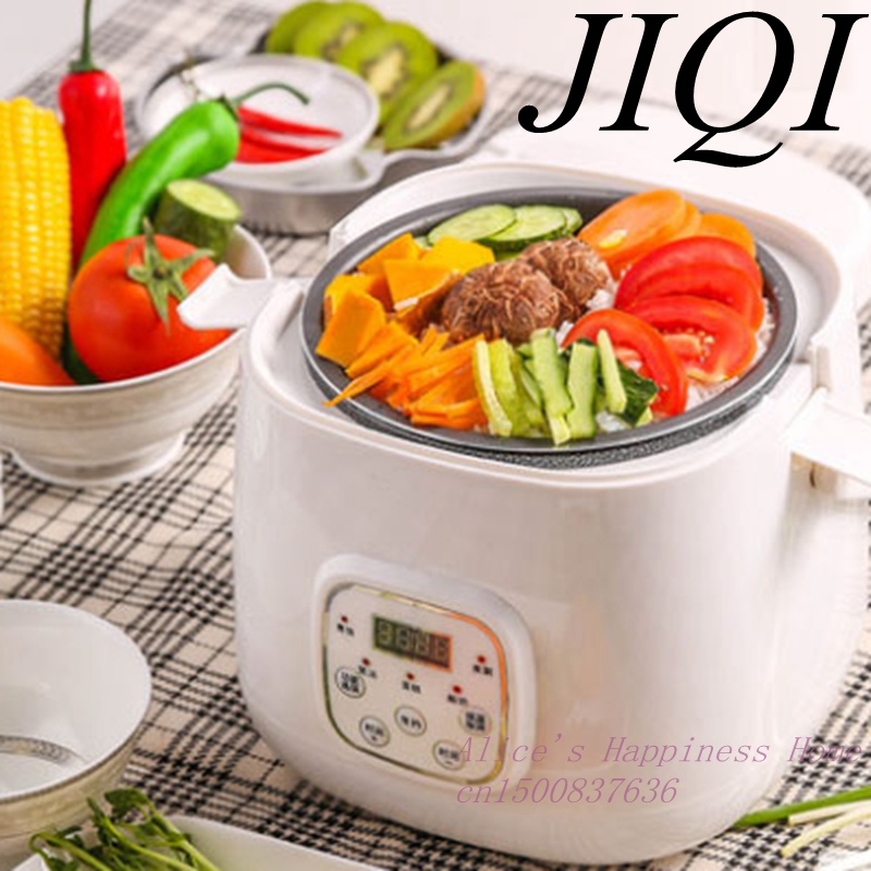 CUKYI Intelligent automatic reservation mini rice cooker 3-4 small multi-function electric rice cooker Mechanical Timer Control mini electric pressure cooker intelligent timing pressure cooker reservation rice cooker travel stew pot 2l 110v 220v eu us plug