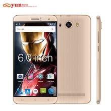 Yunsong originale del telefono mobile s10 più 6.0 pollice smartphone 16.0mp mtk6580 quad core dual sim sbloccato telefono cellulare gsm/wcdma 3g