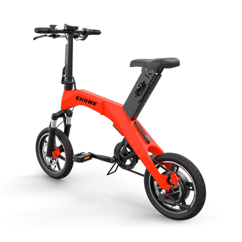 Daibot Electric Bicycle 36V Two Wheel Electric Scooters 12 Inch Brushless Motor 300W Portable Mini Adult Foldable Electric Bike