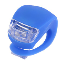 Multicolor 1PC Silicone Bike Bicycle Cycling light Head Front Rear Wheel LED Flash Light Lamp light for bicycle free shipping