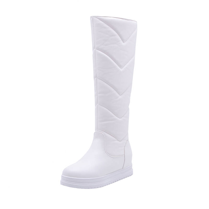 Image 4 - MORAZORA 2020 newest keep warm winter snow boots women waterproof slip on simple platform shoes comfortable knee high boots-in Knee-High Boots from Shoes