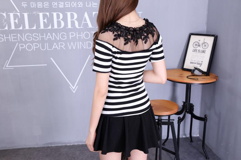 HTB1Mr9FJVXXXXXNXFXXq6xXFXXXG - Blusa black white striped blouse shirts long sleeve
