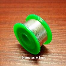 12 m/lot haute pureté 63% fil à souder avec noyau de colophane 0.8MM fil à souder jetable diamètre fer à souder accessoires à souder