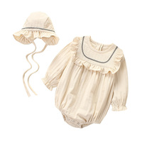 Easter Newborn Baby Girl Bodysuit Set With Hat Spring Cotton Long Sleeve Jumpsuit For Babies Body Baby Girl Clothes Fashion 2019