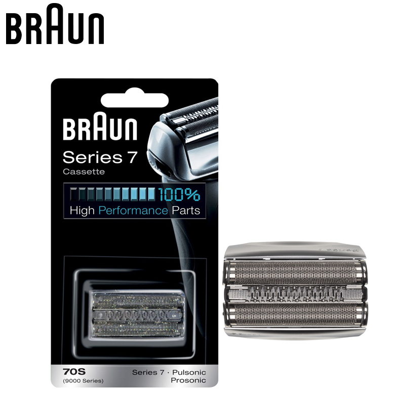 Braun 70S Razor Cassette Replacement for Series 7 Shavers Electric Shaving Razor Replacement head (720 760cc 790cc 9595 9781) 2pcs philips sonicare replacement e series electric toothbrush head with cap