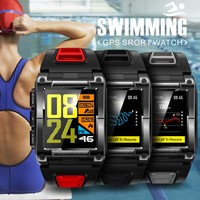 MTK2503 Professional Waterproof Swimming Smart Watch Cycling GPS Watch Female Male Heartrate Mileage Laps Compass Sport Bands