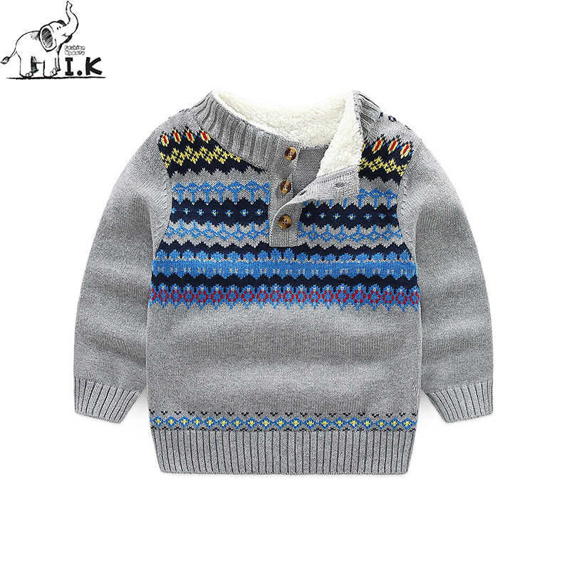 2017 new arrival winter toddler boys sweater children clothing warm knit kids casual cotton England pullover MO25030 купить в Москве 2019