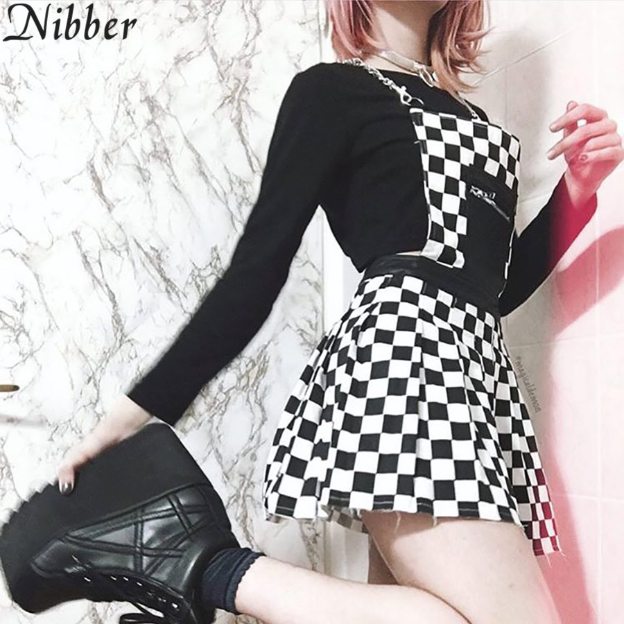 Nibber 2018 Casual Plaid Short Overalls Tops Macacao Feminino dress Ladies Casual Summer Packet Rompers Suspenders Harajuku ...