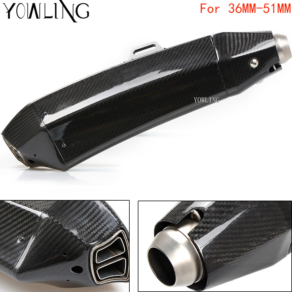 Real Carbon Fiber Motorcycle Exhaust Universal Muffler Motorbike 51mm Exhaust For KTM 1190 Adventure R RC8 R RC8 R Duke 390 125 for 36 51mm universal motorcycle exhaust motorbike exhaust pipes bike muffler for ktm duke 200 390 125 rc125 rc200 rc390 125duk