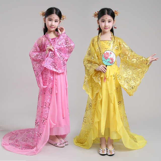 7893ff2afca5 New Arrivel Chinese Traditional Dance Dress Girls Chinese Folk Dance ...