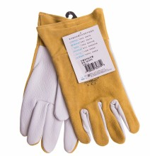 Welding Gloves Leather Work TIG MIG Grain Goatskin