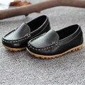 Mocassins criança do sexo masculino de couro criança do sexo masculino 2016 sapatos meninas menino grande singlechildren sapatos masculinos tamanho 21-35