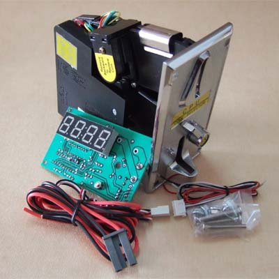 Coin operated timer control board with pulse type coin acceptor