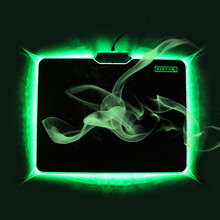 Green LED Luminous Gaming Mouse Pad For Games LOL CSGO WARCARFT USB Mousepad OEM Laptop Computer Office Peripherals Low Price