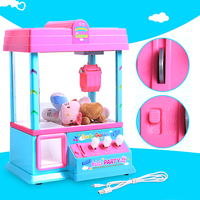 2018 Christmas Gift Coin Operated High Simulation USB Mini Slot Machine Electronic Claw Toy Machine with Music Light Party Toys