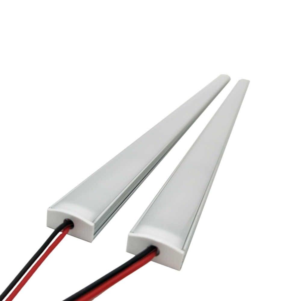 Кухонный Светильник expert DC12V 5050 светодиодный жёсткая планка бар + U алюминий + плоская крышка кухонная полоска свет 5 шт. молочный 50 см