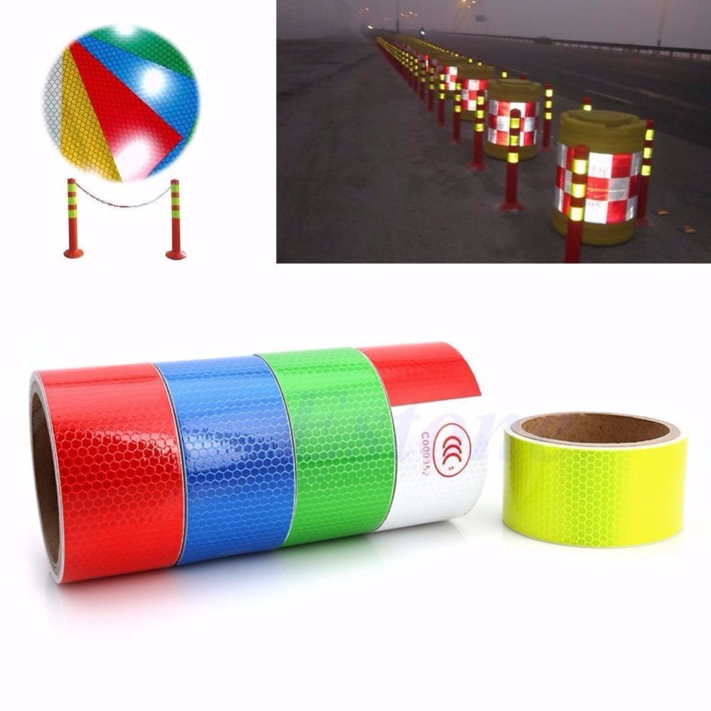 купить 3M 2X10' Reflective Safety Warning Conspicuity Tape Film Sticker Multicolor NEW недорого