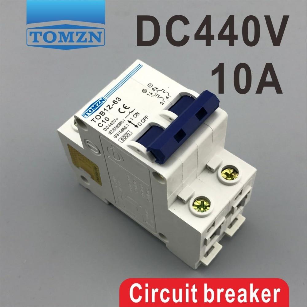 2 P 10A DC 440 V disjoncteur MCB2 P 10A DC 440 V disjoncteur MCB