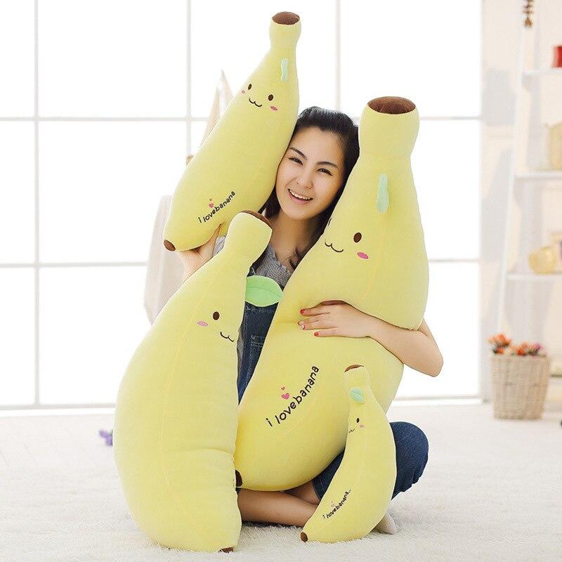 1Pc 40-80cm Creative Soft Banana Plush Pillow Staffed Emoji Banana Cushion Boyfriend Pillow Girls Birthday Gift Plush Toy