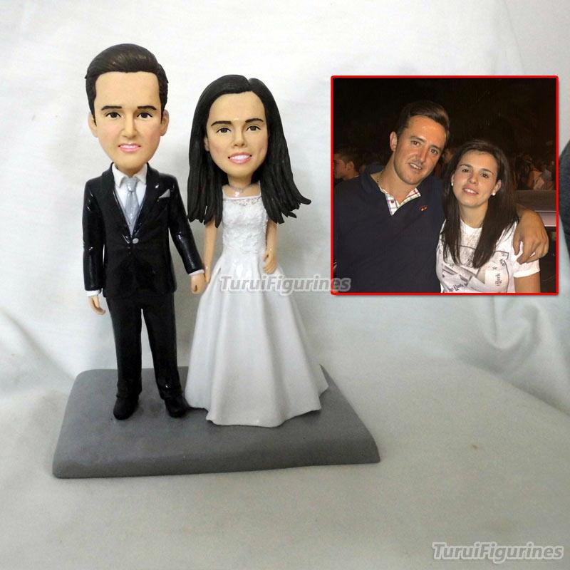 Кукла из полимерной глины на заказ свадебный торт Топпер сделано из ваших фотографий, заказной торт Топпер, сладкие Свадебные украшения Сва