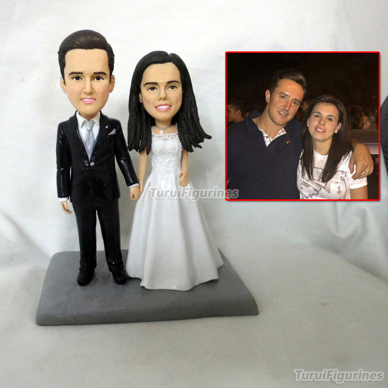 Polymer Clay Doll Custom Wedding Cake Topper Made From Your Photos ,Custom Cake Topper ,Sweet Wedding Decoration Wedding Favor