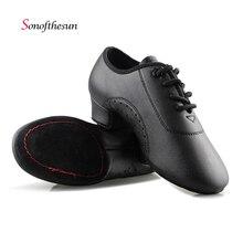цены на Modern Children boys Ballroom Latin Tango Dance Shoes Men's Salsa heeled black Ballroom dancing shoes Dancesport Indoor Shoe  в интернет-магазинах