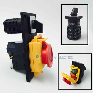 Image 2 - Electromagnetic switch rotary combined switch 7 Pin On Off 16A 230V with protection cover lock waterproof YCZ4 C