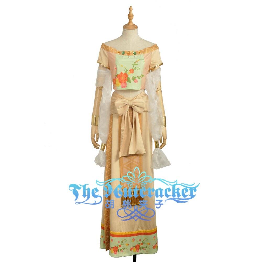 e1c09a9eb6974f6 Хонока Косака Танцы Diva затаенных Косплэй для взрослых костюм женщина  платье юбка Хэллоуин