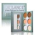 Nuevo 6 de Color En Polvo Bronceador Highlighter Maquillaje Paleta Set Face Contour Polvos prensados de Aseo Nariz Sombra Silueta