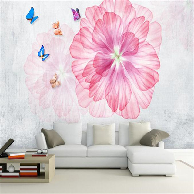 3D Flowers Wallpapers Murals Custom Photo Wallpapers for Living Room ...