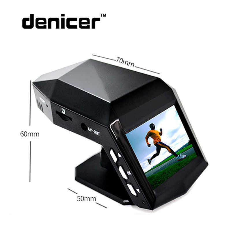 Denicer Автомобильная камера ручная Full HD 1080 P 30fps Dash камера 170 градусов широкоугольный hd dvr 2,0 дюймовый экран с g-сенсором Автомобильный видеорегистратор