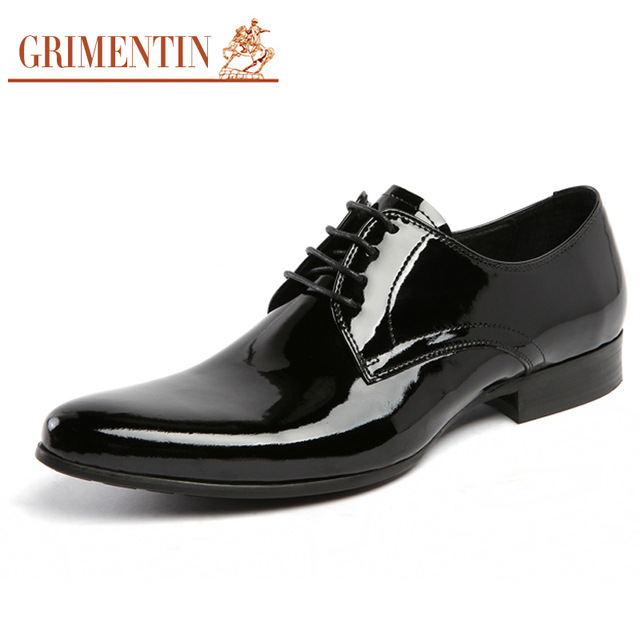 aliexpress buy grimentin mens patent leather shoes