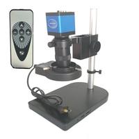 8X 130X Remote control 13MP HDMI VGA Industrial Microscope Digital camera +56 Led ring light for soldering bga pcb phone repair