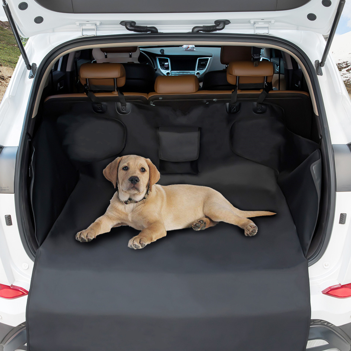Pet Car Back Seat Cover Waterproof Oxford Cloth Focuspet Boot Blanket Safety Protector Carrying Storage Bag 105 x 175cm BlackPet Car Back Seat Cover Waterproof Oxford Cloth Focuspet Boot Blanket Safety Protector Carrying Storage Bag 105 x 175cm Black