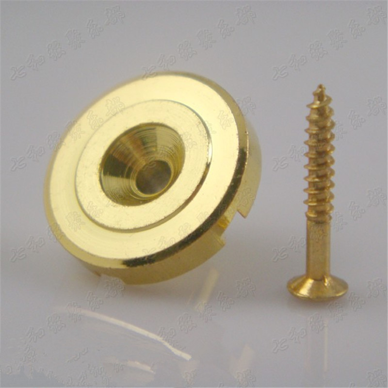 2 Pcs Golden Electric Bass Guitar String Retainers Tree