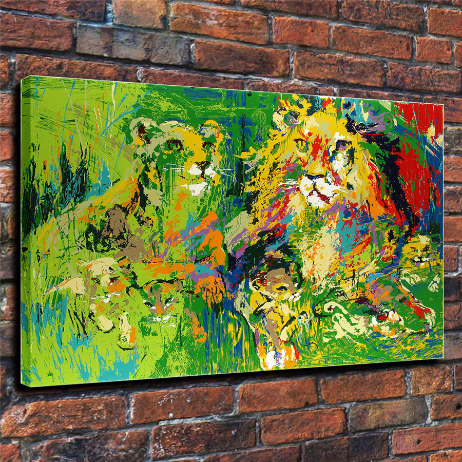 LeRoy Neiman Music and Sports Event Color Print Canvas Painting Living Room Bedroom Home Decor Modern Mural Art Oil Painting#047
