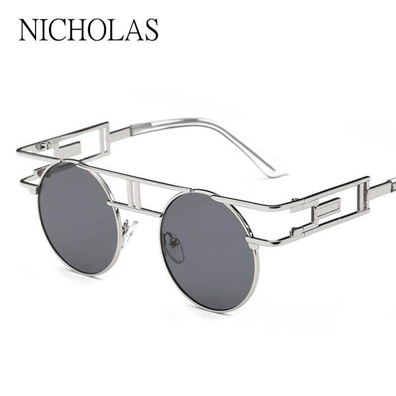 b53f38dc05 Ronda Gafas de sol mujeres desinger metal espejo hueco Sol gafas para las  mujeres lunette DE SOLEIL Femme mujer hombre