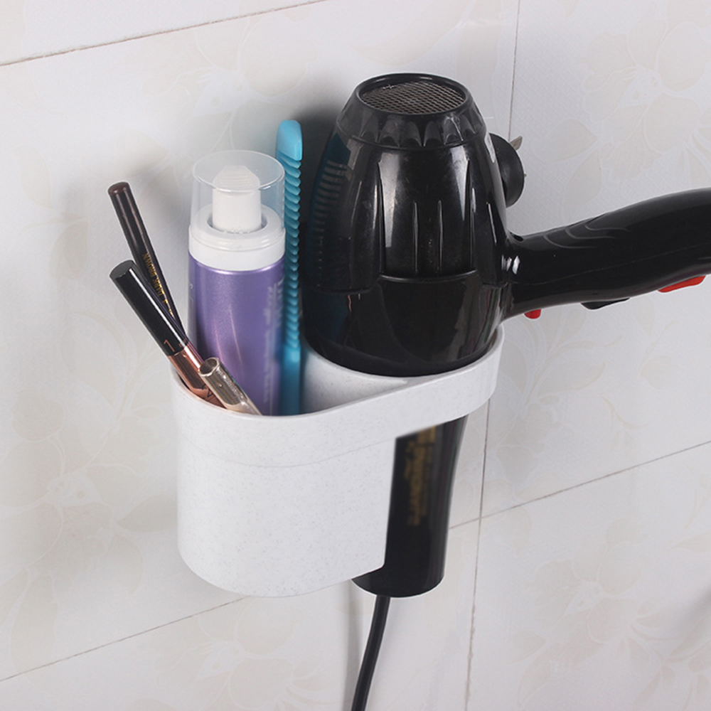 Heimwerker Schlussverkauf Bequem Wand Montiert Haar Trockner Veranstalter Spirale Ständer Halter Rack Aluminium Bad Regal Lagerung Badezimmer Regale