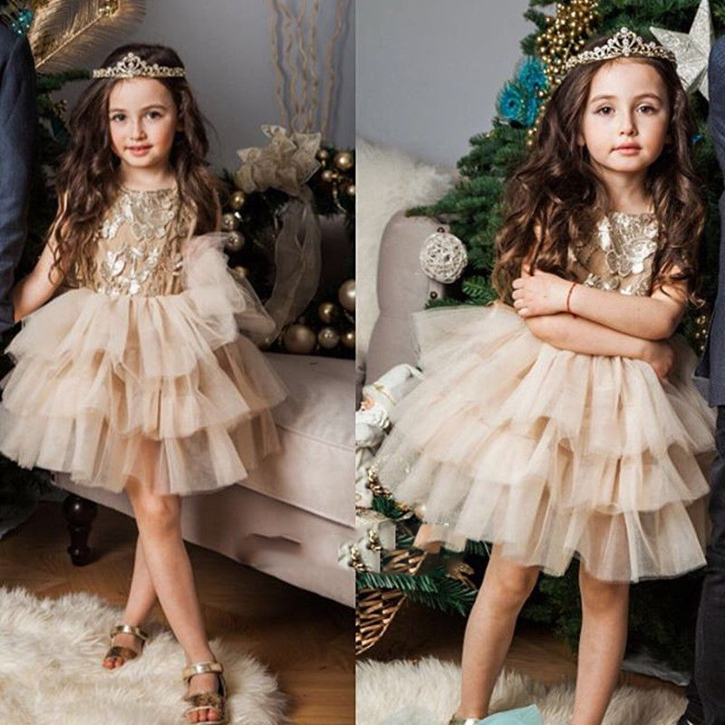 Popular Gold Flower Girl Dresses-Buy Cheap Gold Flower Girl ...