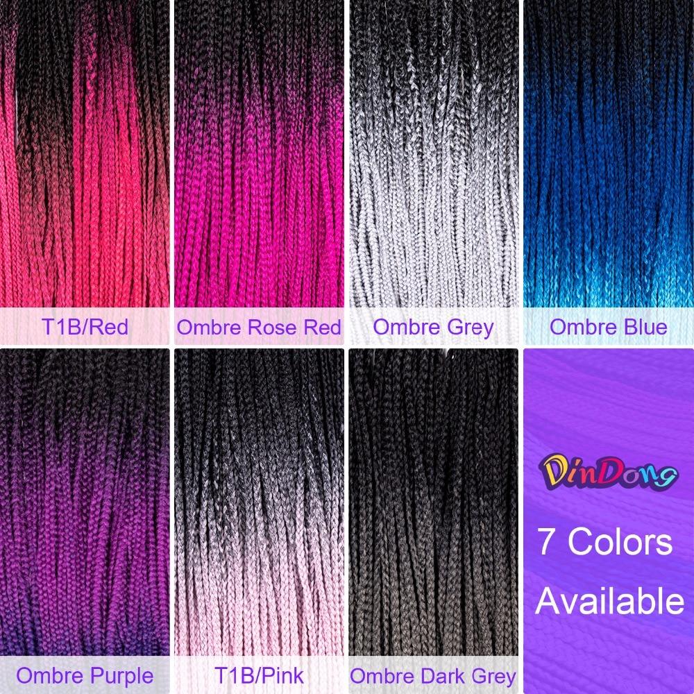 Δαντέλες DinDong Ombre Πριτσίνια Πριτσίνια - Συνθετικά μαλλιά - Φωτογραφία 2