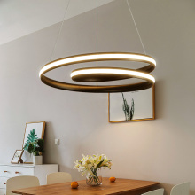 led chandelier Restaurant simple modern creative art living room lamp warm romantic Nordic bedroom